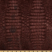 Faux Leather Metallic Gator Garnet Fabric
