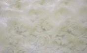 Luxurious Minky Rosebud Fabric - Ivory
