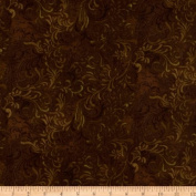 270cm Wide Quilt Backing Flourish Brown Fabric