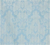 Fatigue Blue French Damask Jacquard Thick Cotton Upholstery Drapery 140cm W