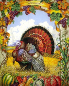 Welcome Autumn Harvest Quilt Panel with Backing