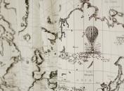 Cotton Linen Fabric Cloth DIY Cloth Art Manual Cloth Map World