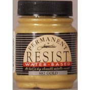 Jacquard Permanent Resist Water Based 60ml Gold, 882