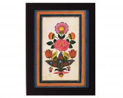 Fantasy Flowers. Safavid Iran. Overall frame size 15cm x 20cm . Ideal for most gifting occassions.