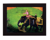 A Prince (Mughal India) on a Lion Hunt. Overall frame size 20cm x 15cm . Ideal for most gifting occassions.