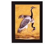 Study of a pair of Cranes. Mughal India. Overall frame size 15cm x 20cm . Ideal for most gifting occassions.