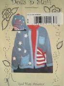 GOD BLESS AMERICA - MAKE WITH ANY SWEATSHIRT - WOMENS CLOTHING -DOLLS 'N STUFF PATTERN #057