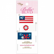 All American Stick Pin Paper Flags 3/Pkg-Icons