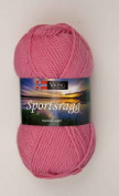 1 X 50g50ml Sportsragg Double Knitting Yarn By Viking Garn #581 - Rose