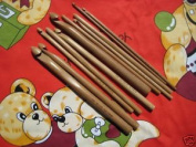 BrilliantKnitting (BR brand) 12 PCs bamboo crochet hooks US 2/C (2.75 mm)-US 15/N