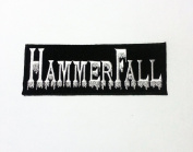 Hammerfall Sew on or Iron Woven Patch Badge NEW