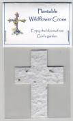 Plantable White Mini Cross