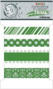 Fundamentals Trims 4 Metres/Pkg (4.37 Yards)-Christmas Green 4 Styles/1 Metre Each