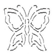 Butterfly Quilting Stencil