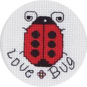 Janlynn Love Bug Mini Counted Cross Stitch Kit