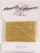 Little Bits Metallic Winder - Gold Memory Fibres - 10 yards -- Moments 'n Memories - #168-0274