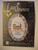 Lace Ornament #1227 Train Happy Holidays craft kit
