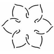 Quilting Stencil Simple Flower 14cm x 13cm
