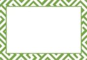 Caspari Greek Key Modern Green Placecards