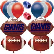 New York Giants Championship Football Balloon Decorating Party Goer Kit 17pc