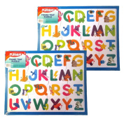 PLAYSKOOL 36cm x 28cm 12 Piece Letter Puzzle With Frame Tray (2 Pack) Great Gift!