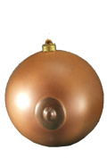 Forum Novelties Adult Novelty Holiday Ornament, Brown Boob Ball