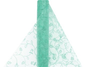 30cm x 10 yards Embroidered Sheer Organza Fabric Bolt