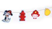 Naturally Pampered Rescue Pals Firefighter Theme Fireman Party Garland