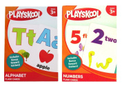 PLAYSKOOL Alphabet and Numbers Flash Cards (2 sets) 36 Cards per Set