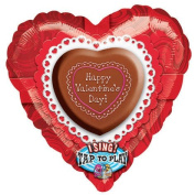 70cm How Sweet It Is Valentine Sing-a-tune Foil Balloon