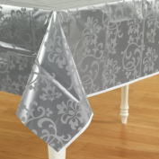 Silver Shimmer Plastic Tablecover