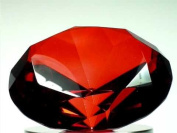 Beautiful Gaint Birthstones Paperweight Glass Diamond 10cm Crystal, Ruby
