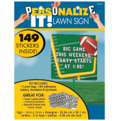 Football Customizable Lawn Sign Party Accessory