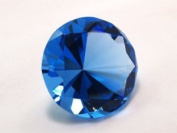 Beautiful Gaint Birthstones Paperweight Glass Diamond 80mm Crystal, Blue