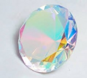 Beautiful Gaint Birthstones Paperweight Glass Diamond 7.6cm Crystal, Rainbow