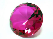 Beautiful Gaint Birthstones Paperweight Glass Diamond 80mm Crystal, Ruby
