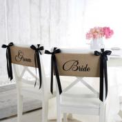 Mud Pie Bride and Groom Chair Sash Set
