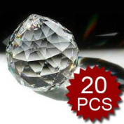 Aspire Hanging Crystals, Crystal Prism 20MM, Price For 20 Pcs