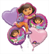 Funny Party Hats ab128 Dora The Explorer Birthday Bouquet Of Balloons