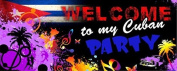 Welcome to My Party Banner 150cm x 60cm