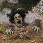 Clawing Zombie Groundbreaker With LED Eyes - Party Decorations & Tombstones & Cemetery