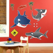 Party Destination 206347 Sharks Giant Wall Decals