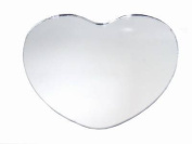 12 pc x HEART 25cm Glass MIRROR Wedding Table Decoration