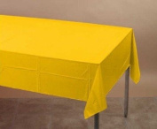 School Bus Yellow Tissue/Poly Tablecover 140cm x 270cm Solid 24ct