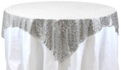 Koyal Wholesale Square Sequin Tablecloth, 180cm by 180cm