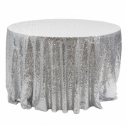Koyal Wholesale Round Sequin Tablecloth, 300cm