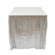 Koyal Wholesale Rectangle Sequin Tablecloth, 230cm by 400cm
