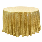 Koyal Wholesale Round Sequin Tablecloth, 340cm