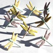 Eyelet Outlet Shape Brads-Dragonfly Pastel