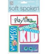 Me & My Big Ideas Soft Spoken 3 Dimensional Embellishments-Kid's Playtime